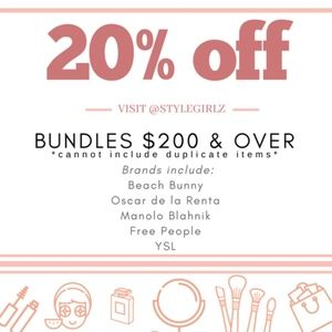 Other - 20% off bundles $200 and over!